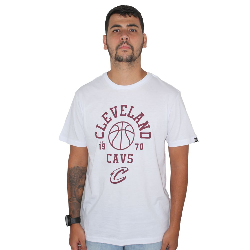 Camiseta New Era Cleveland Branca