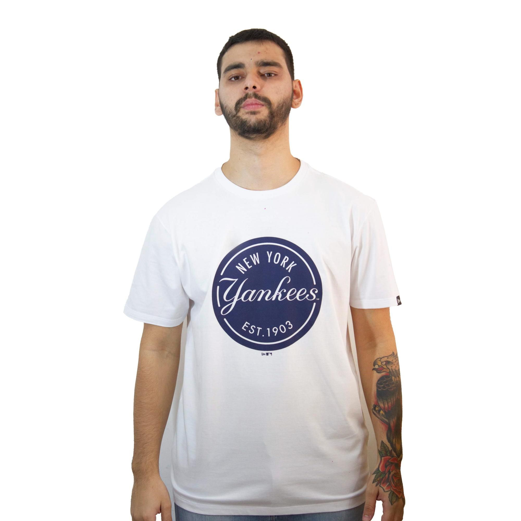 Camiseta New Era Essentials Yankees Branca