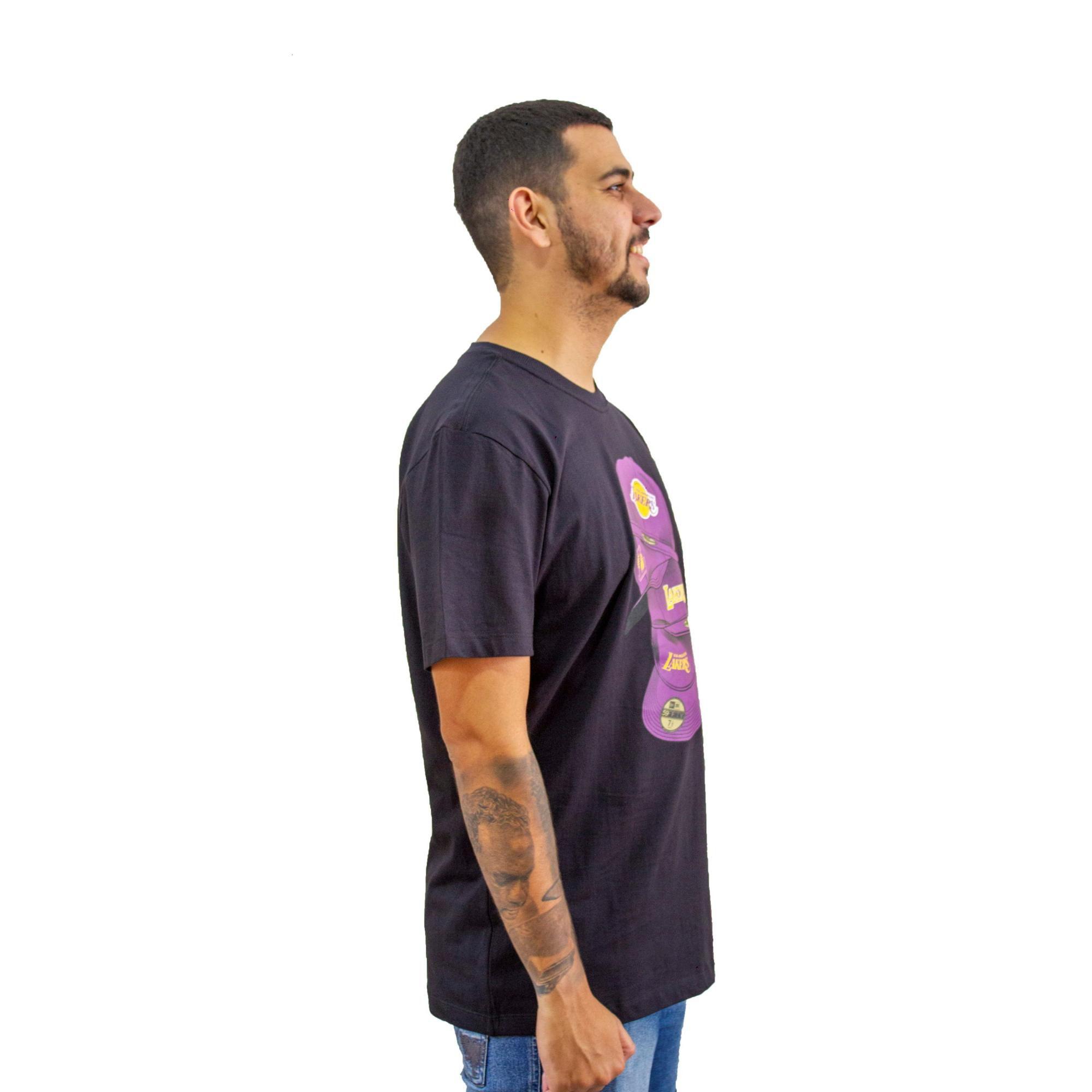 Camiseta New Era L A Lakers Preto