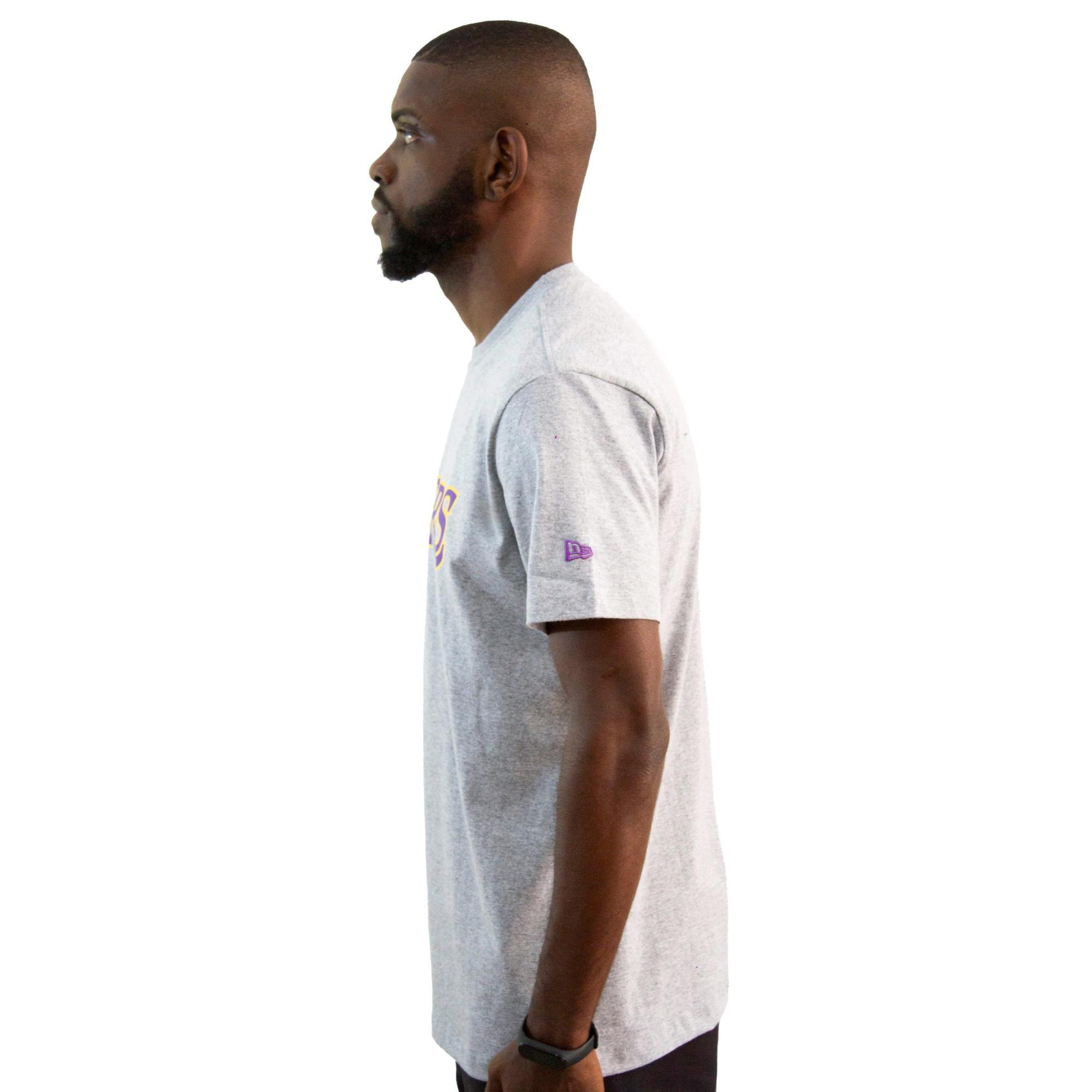 Camiseta New Era Lakers Mescla Cinza