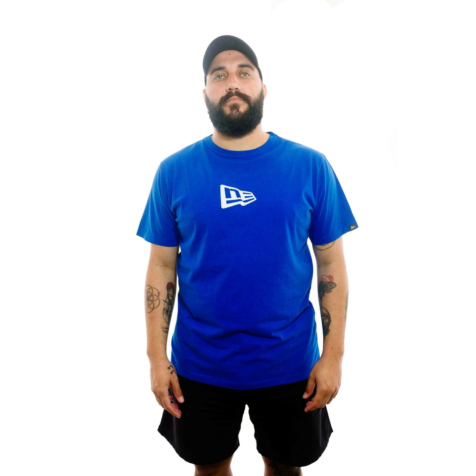 Camiseta New Era Logo Azul
