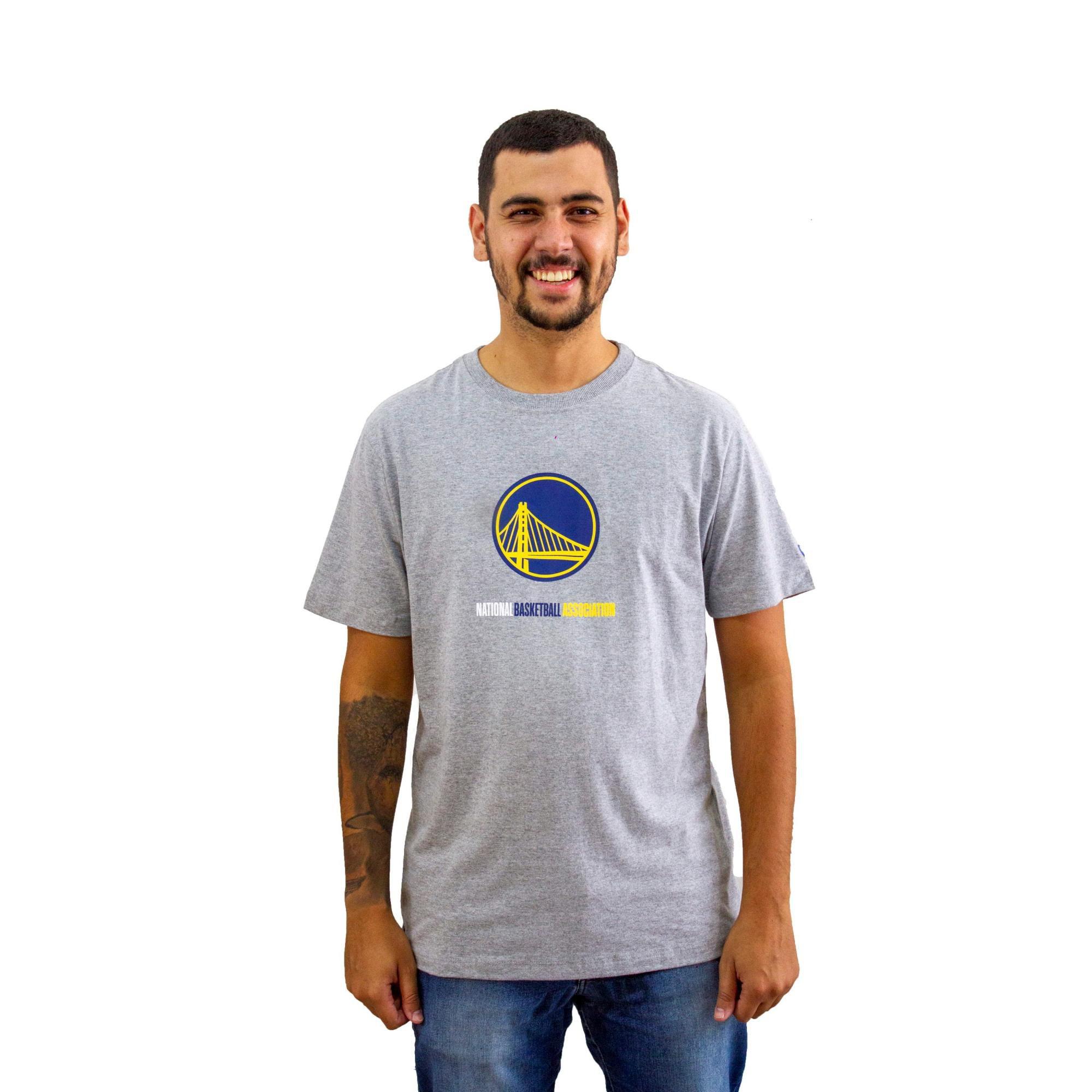 Camiseta New Era Mescla Cinza