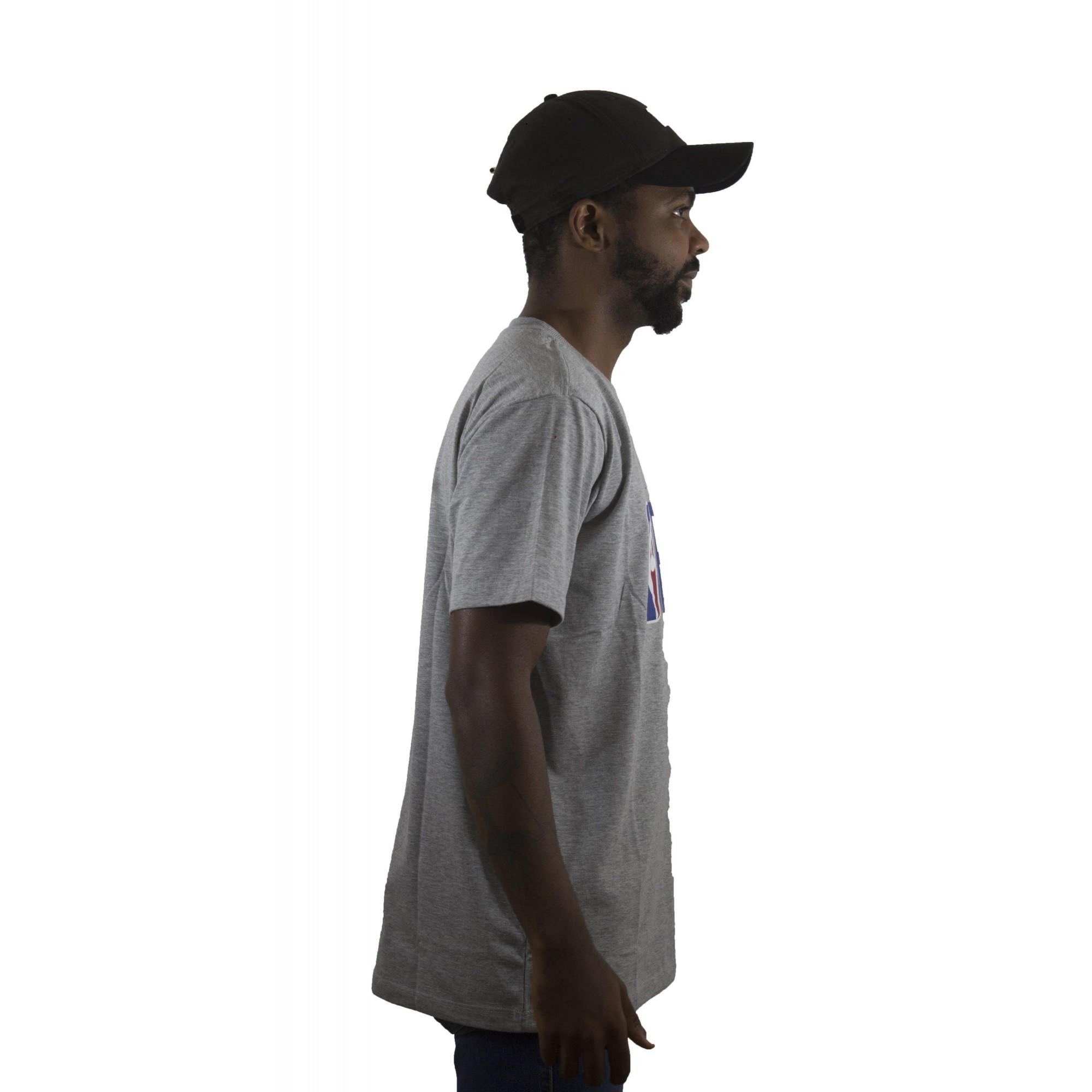 Camiseta New Era NBA Mescla Cinza