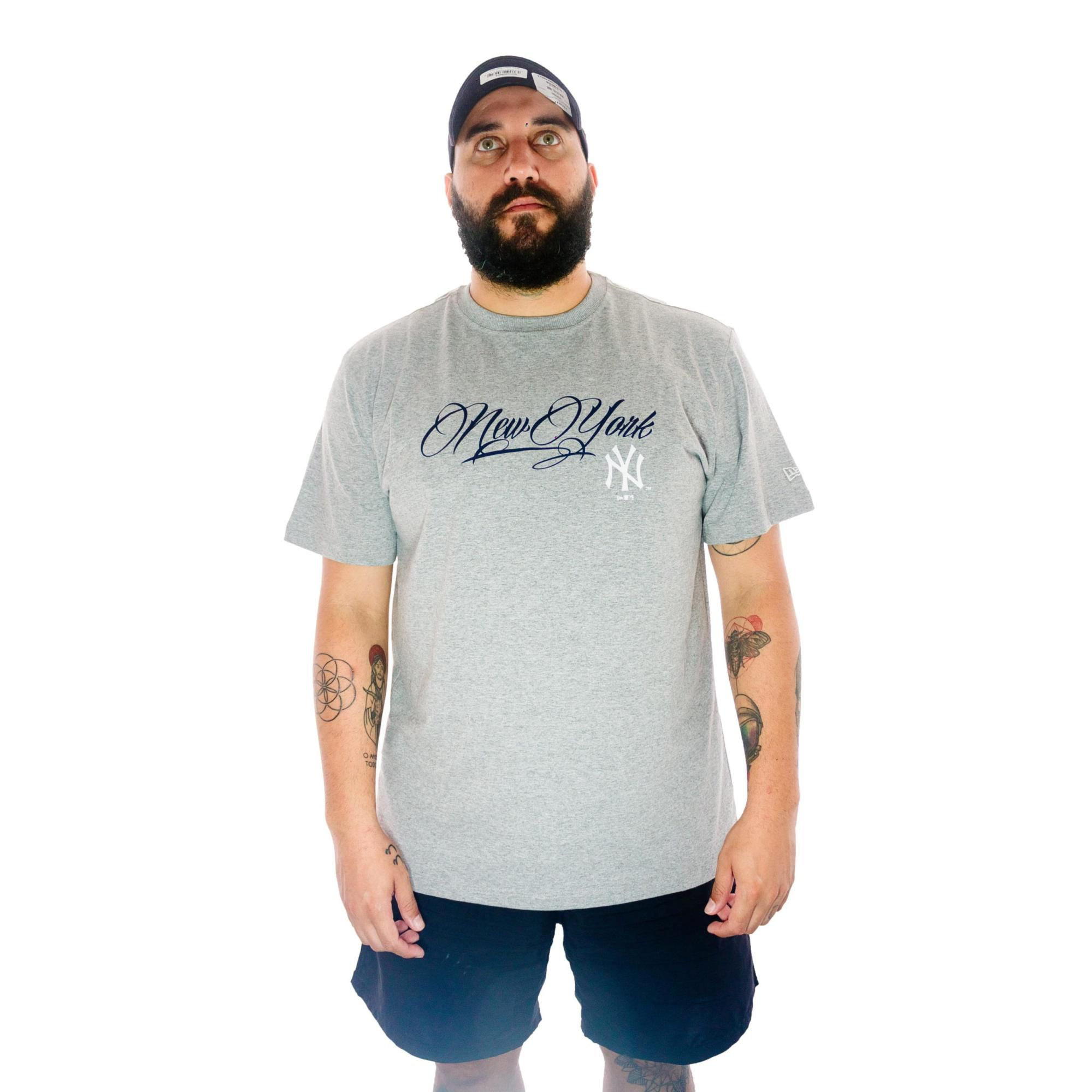 Camiseta New Era New York Cinza
