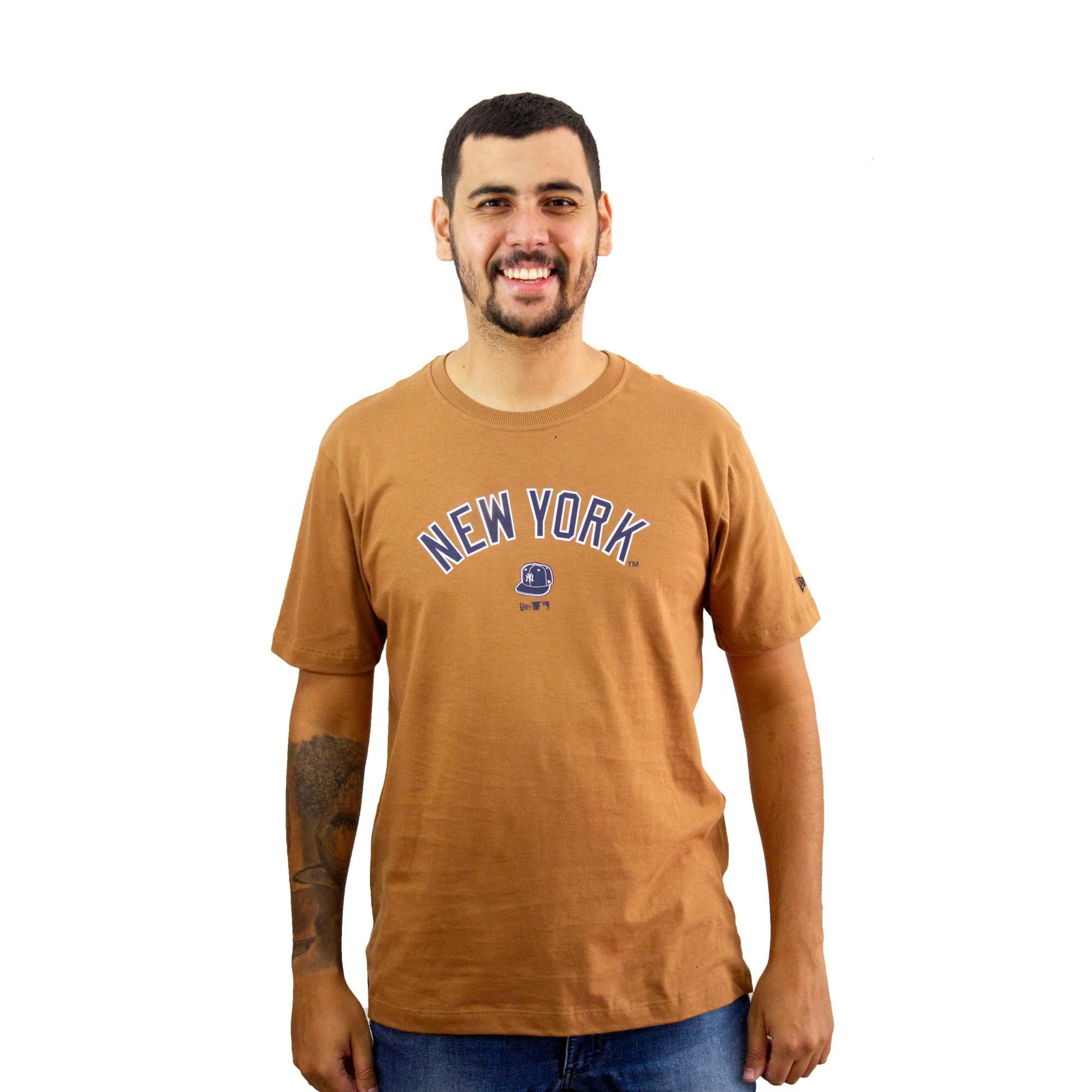 Camiseta New Era New York Kaki