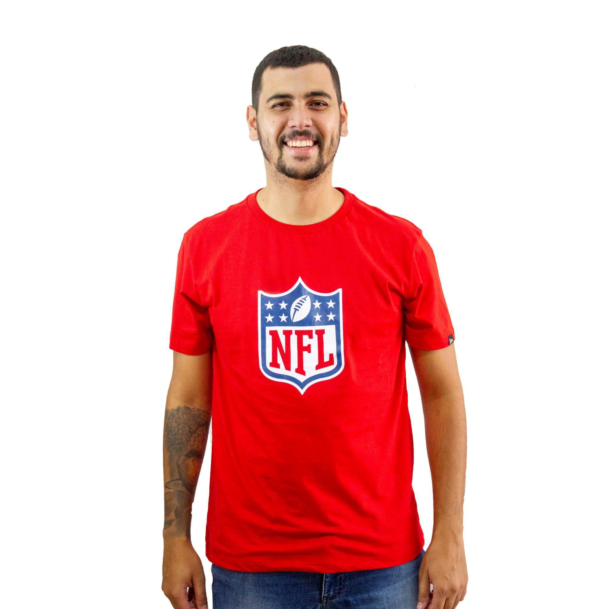 Camiseta New Era NFL Vermelho