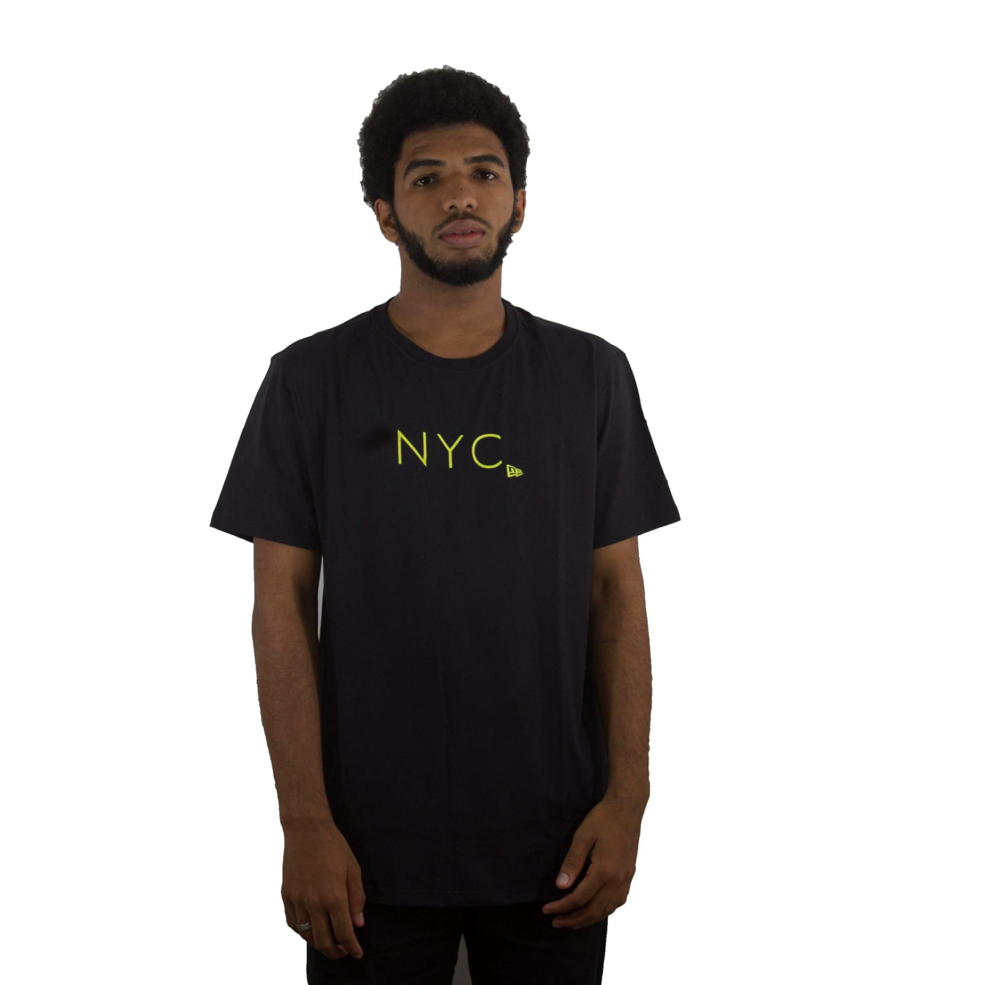 Camiseta New Era NYC Preto/Amarelo