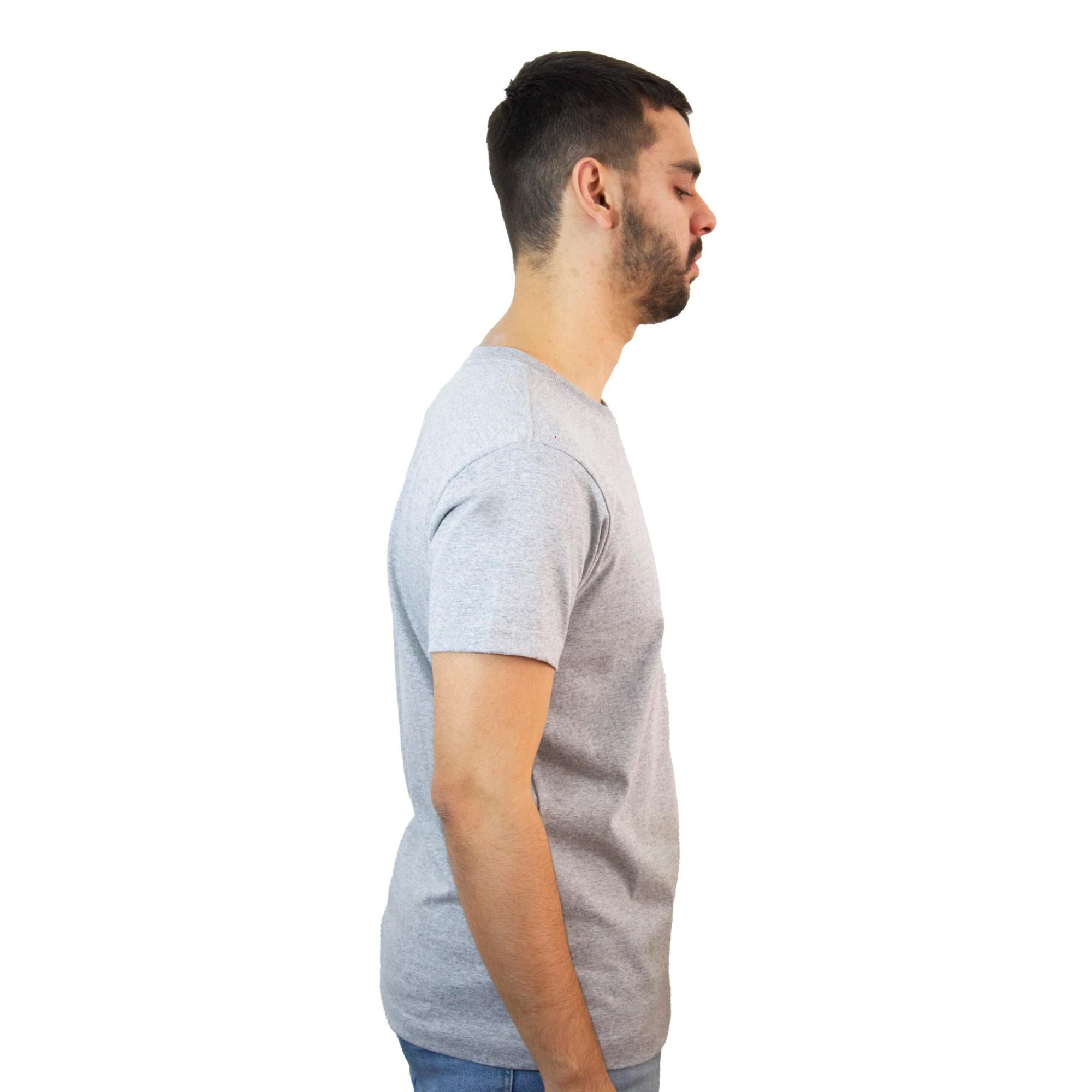 Camiseta New Era NYY Mescla Cinza