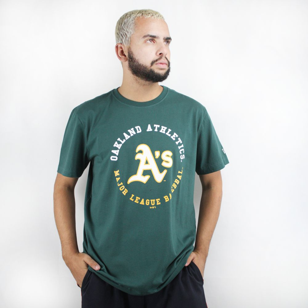 Camiseta New Era Oakland Athletics Verde