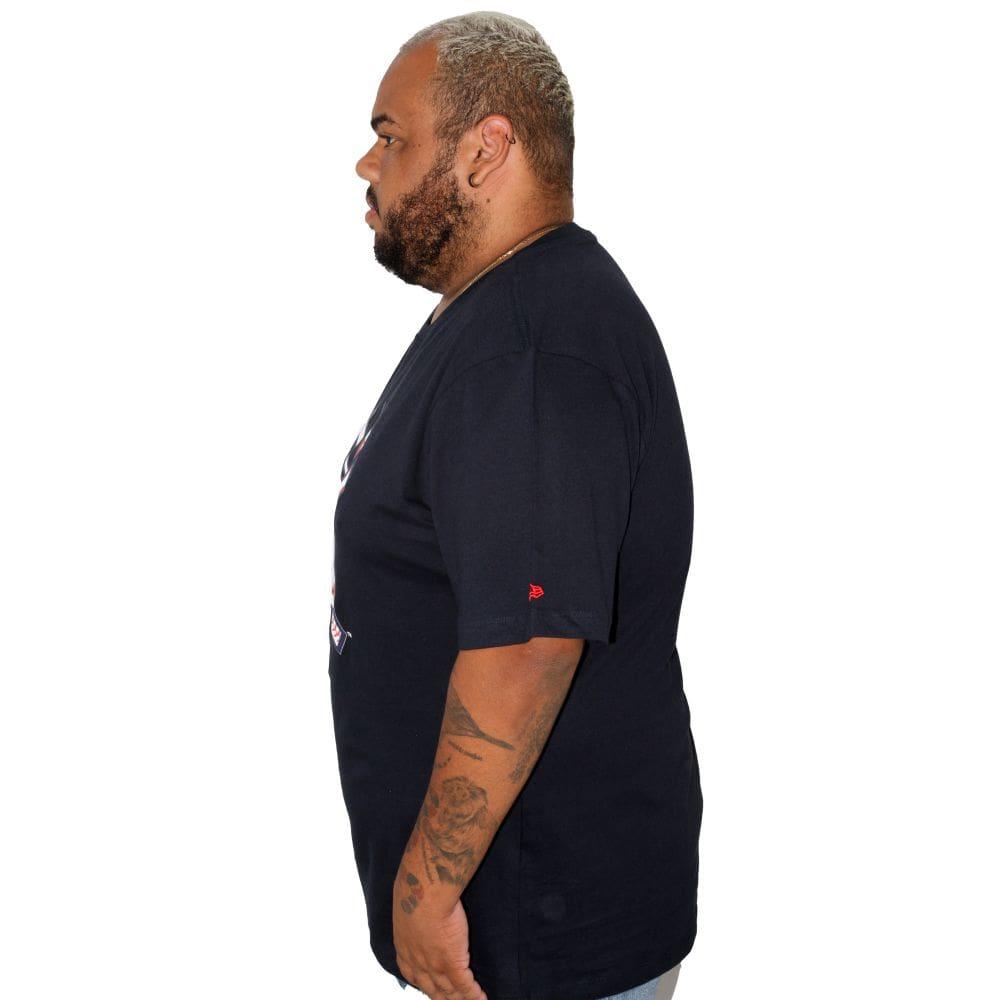 Camiseta New Era Plus Size NY Marinho