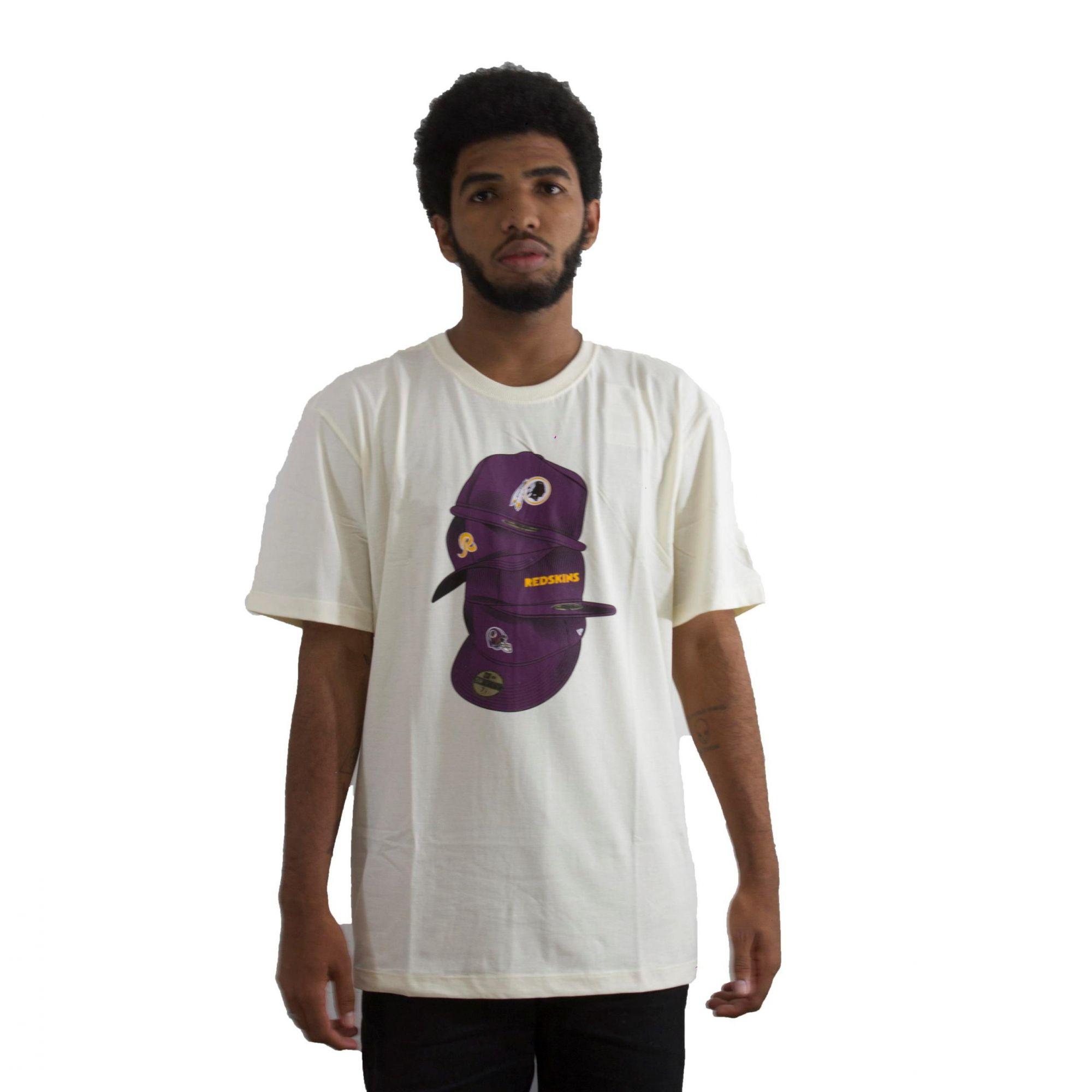 Camiseta New Era Redskins Off White