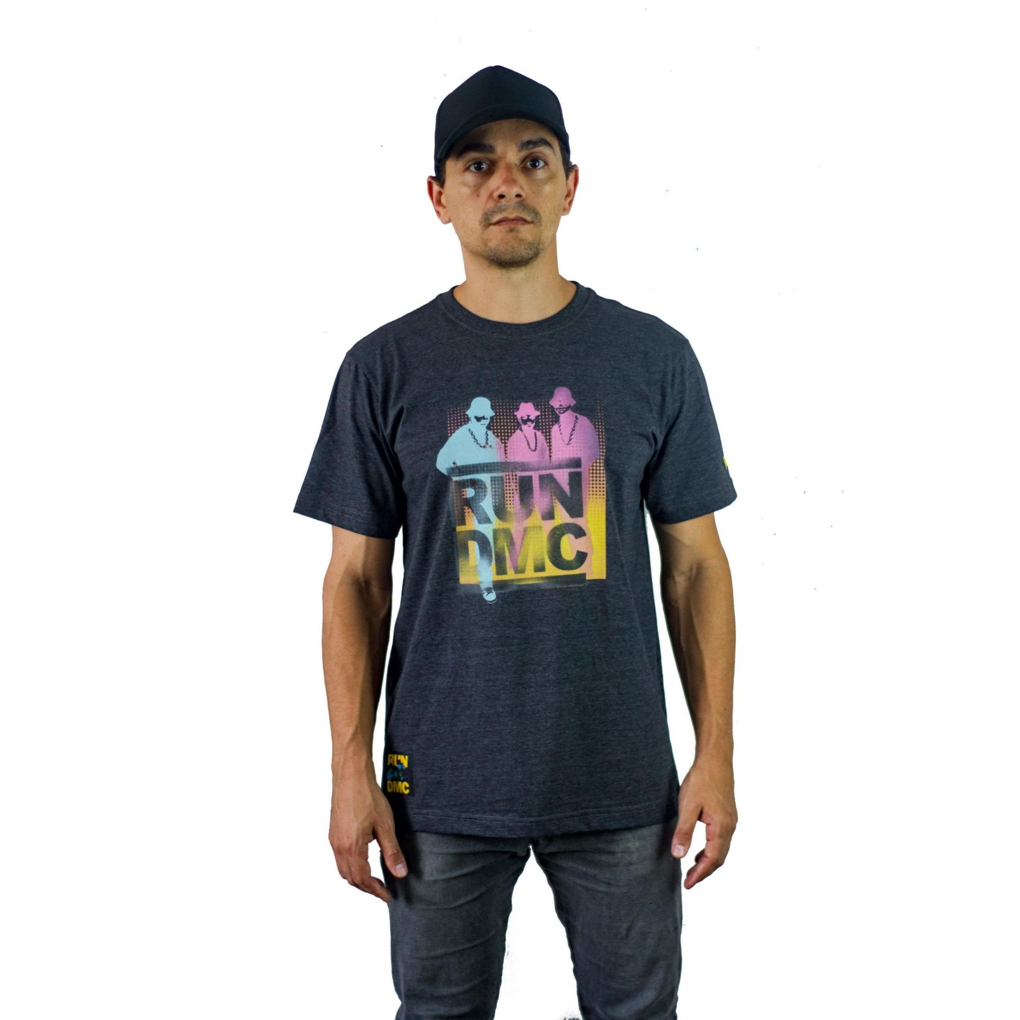 Camiseta New Era Run DMC Cinza