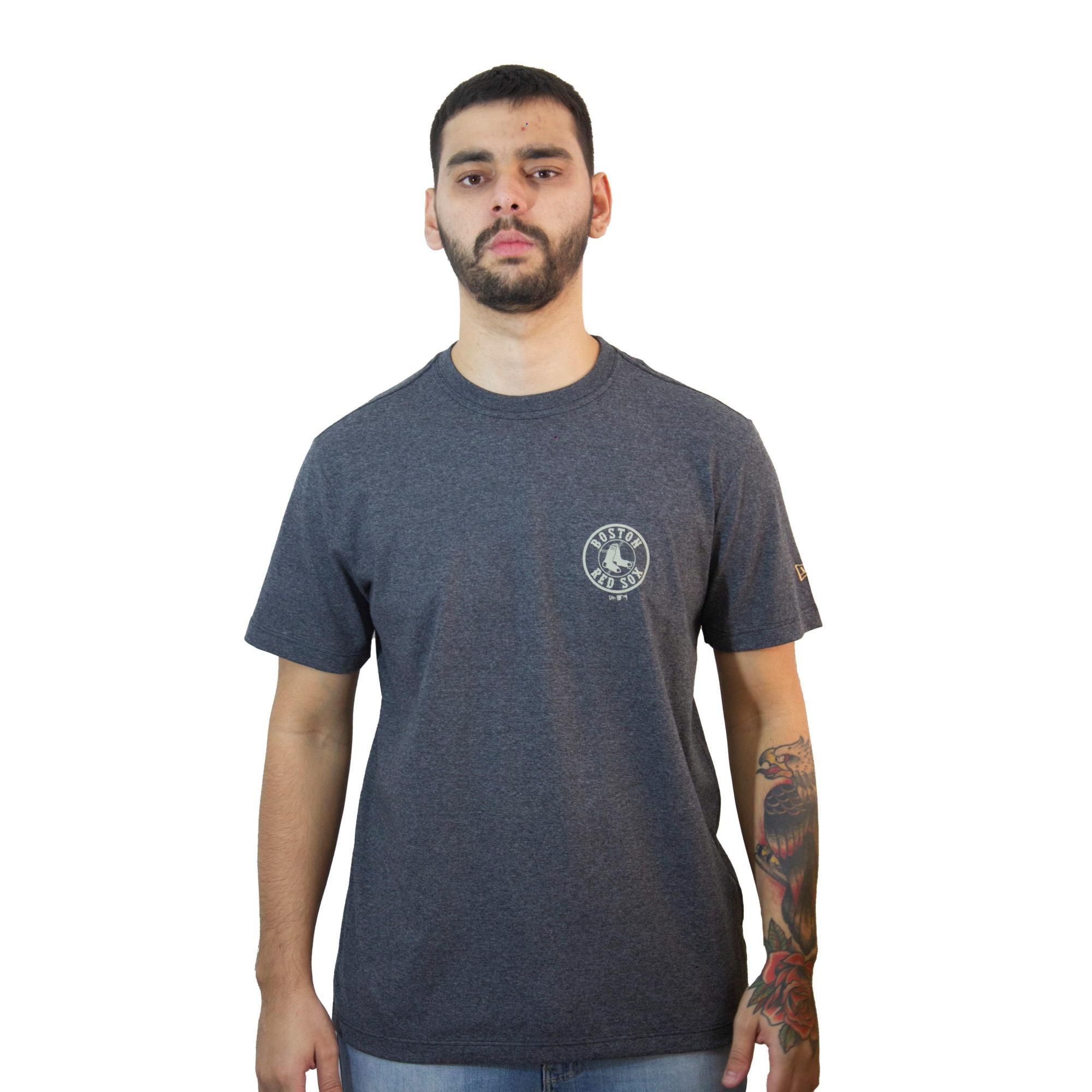 Camiseta New Era Sox Mescla Negro
