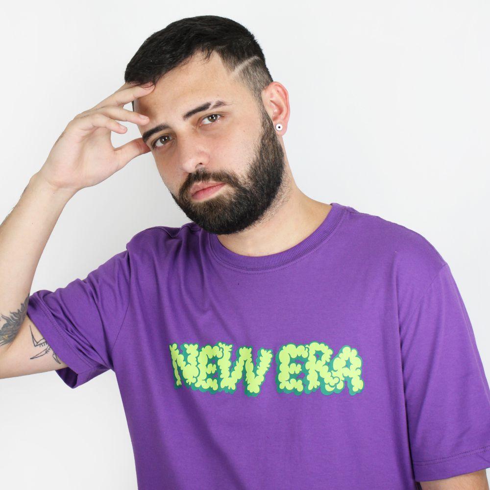 Camiseta New Era Trick Cloud Logo Roxa