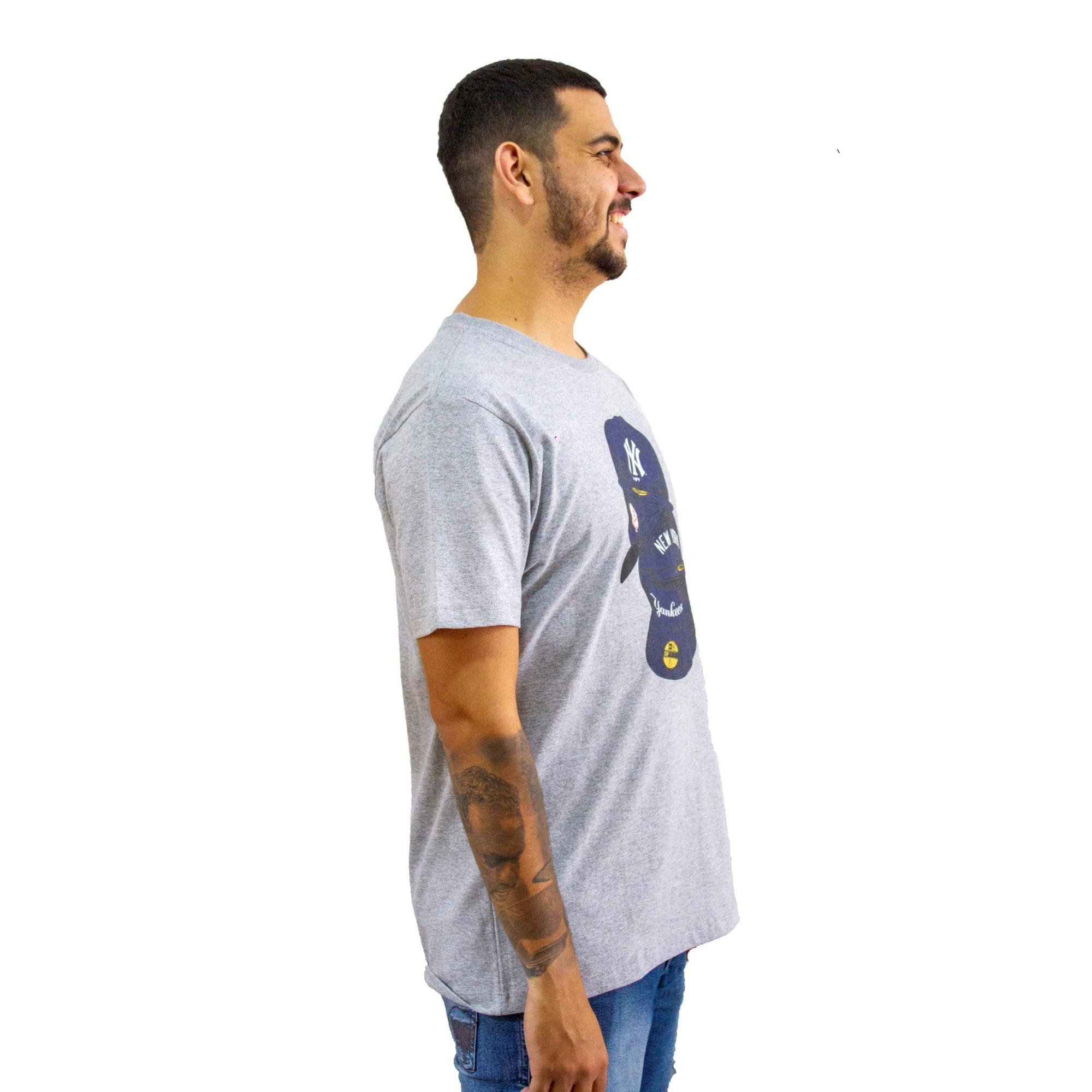 Camiseta New Era Yankees Mescla Cinza