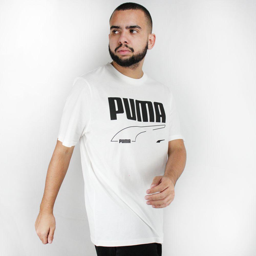 Camiseta Puma Rebel Branca