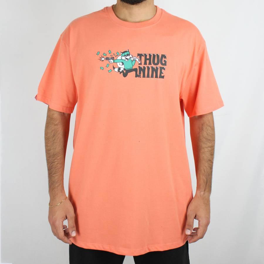 Camiseta Thug Nine Hit & Run Coral
