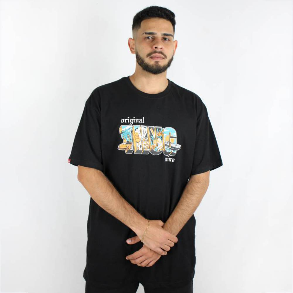 Camiseta Thug Nine Like A Boss Preta