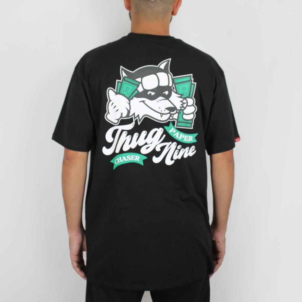 Camiseta Thug Nine Racoon Preta