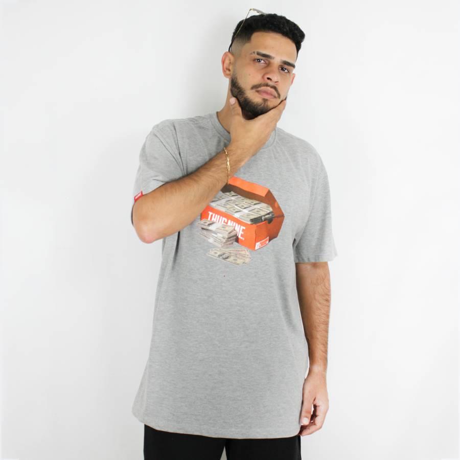 Camiseta Thug Nine Shoe Box Cinza