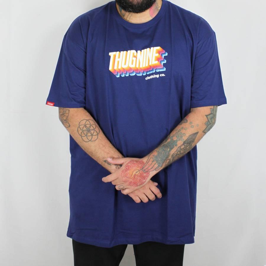 Camiseta Thug Nine Tetris Azul