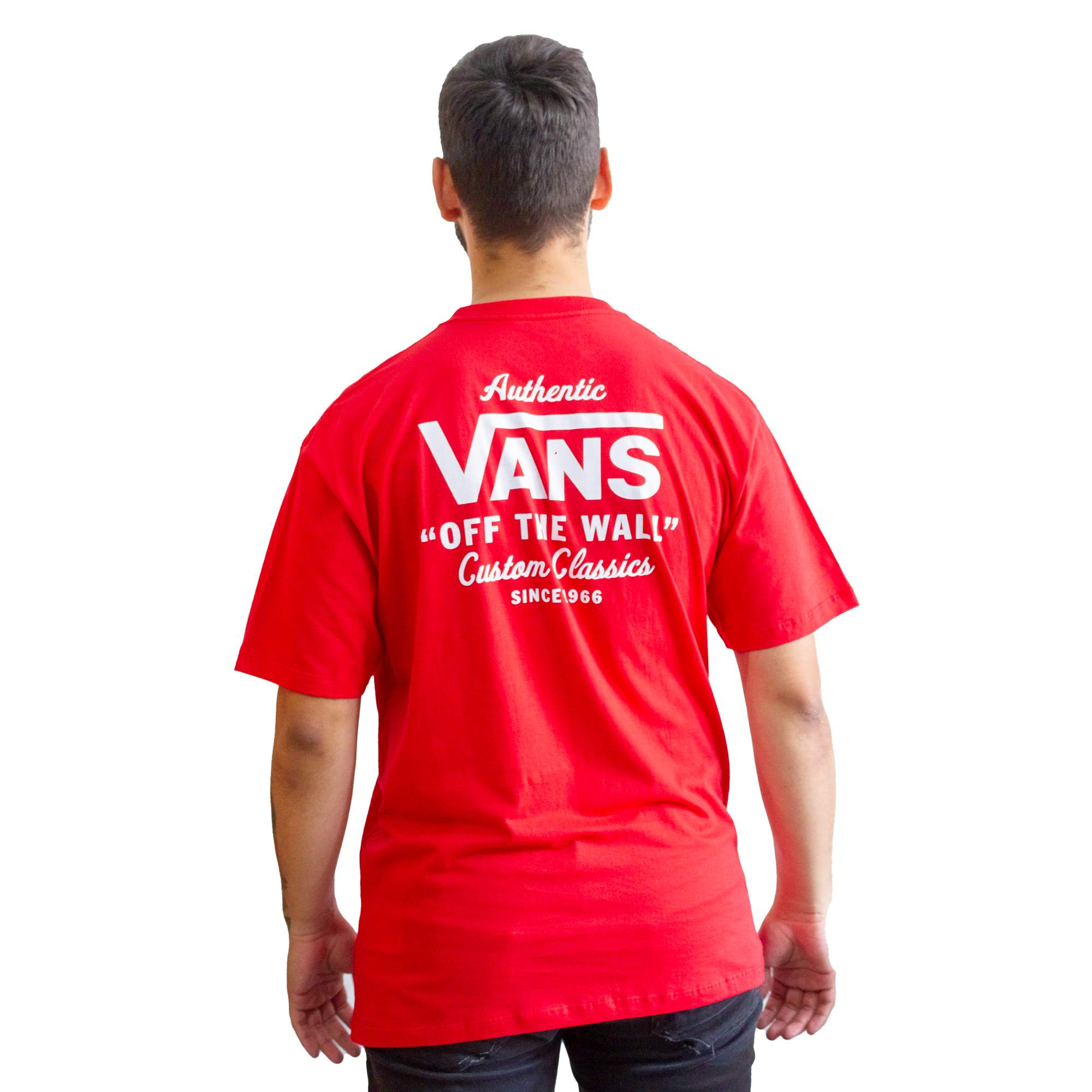 Camiseta Vans Authentic Off The Wall Red