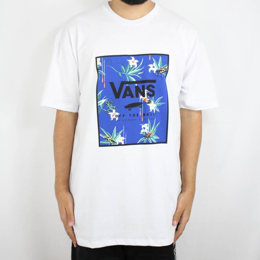 Camiseta Vans Classic Print Box Branca