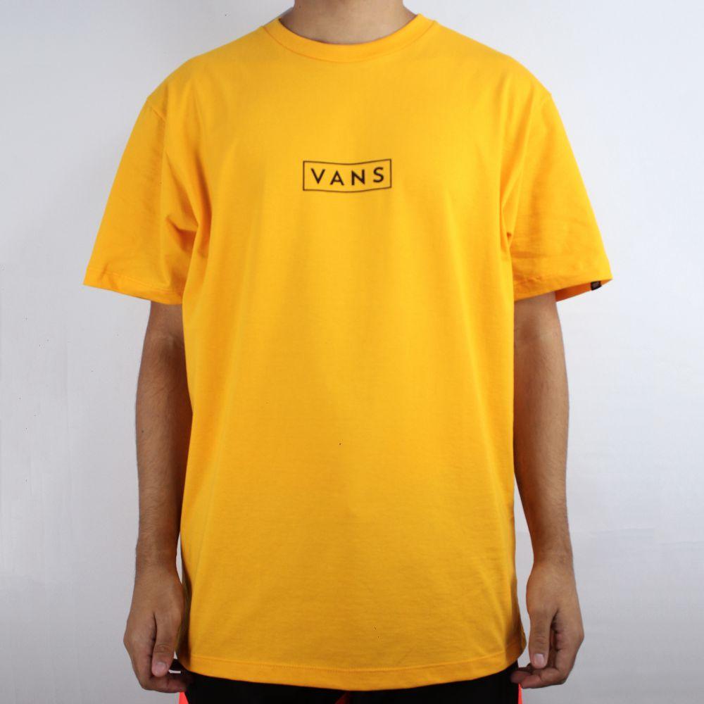 Camiseta Vans Easy Box  Amarela