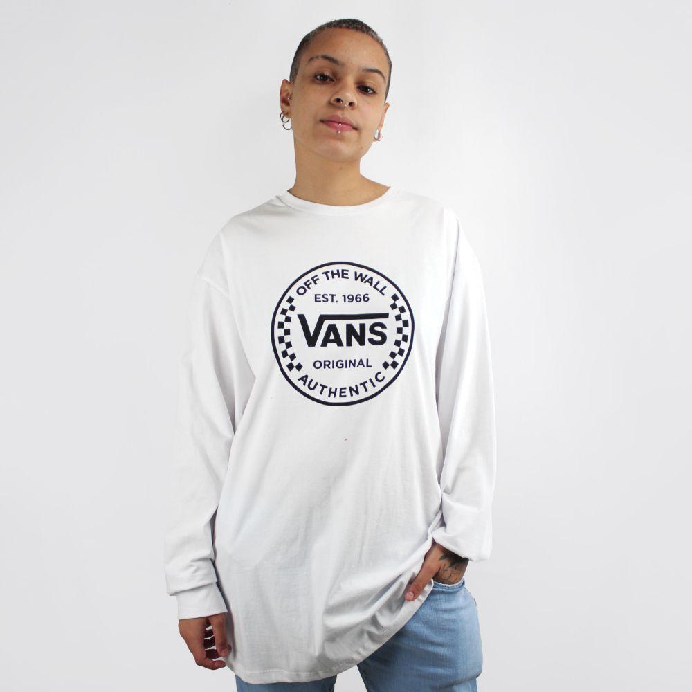 Camiseta Vans Manga Longa Authentic Checker
