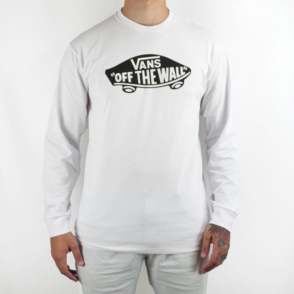 Camiseta Vans Manga Longa Off The Wall Branca