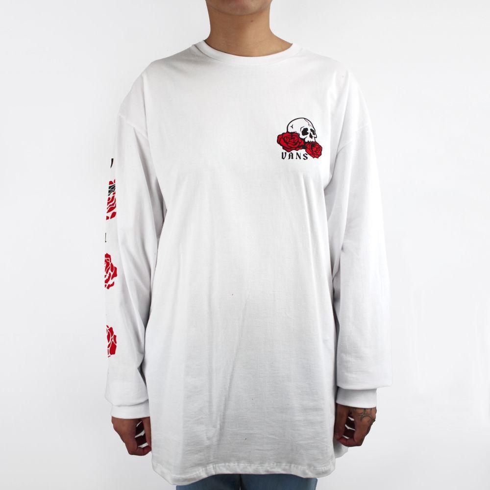 Camiseta Vans Manga Longa Rose Bed
