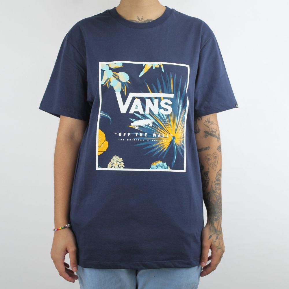 Camiseta Vans Print Box Marinho
