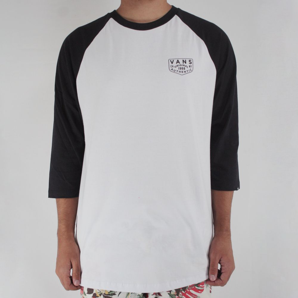 Camiseta Vans Raglan OG Branco