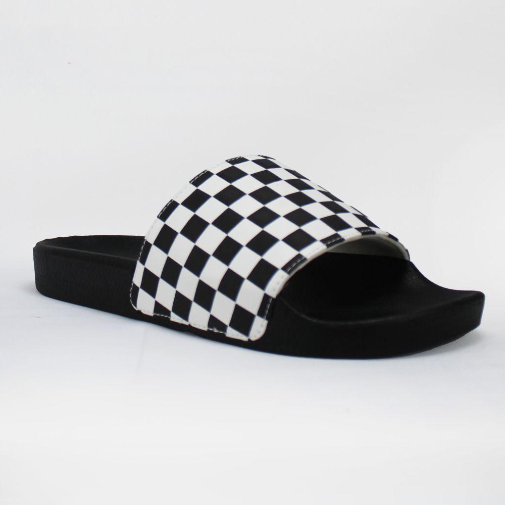 Chinelo Slide Vans Checkerboard