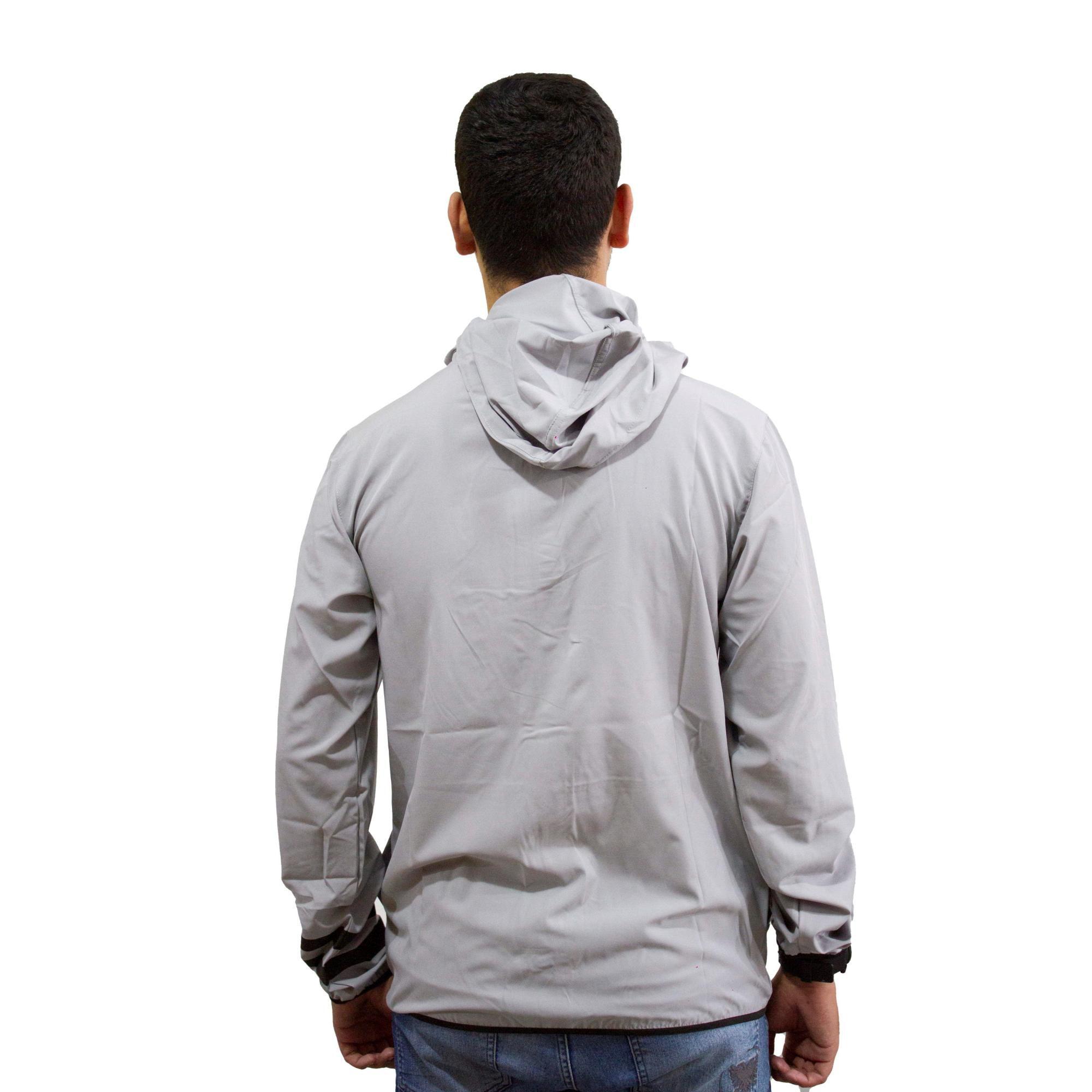 Jaqueta Corta Vento Hurley Logo Cinza