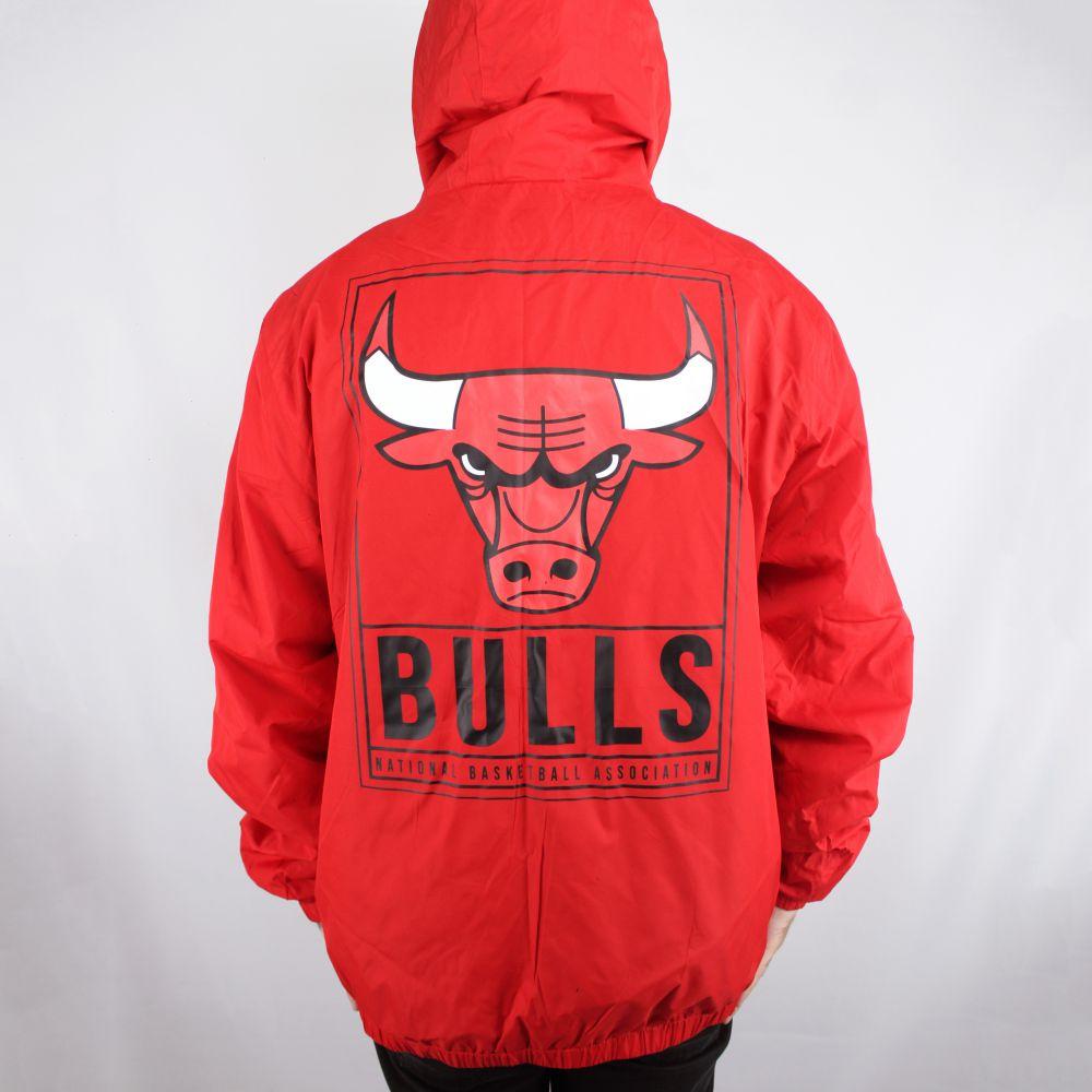 Jaqueta Corta Vento New Era Chicago Bulls Vermelha