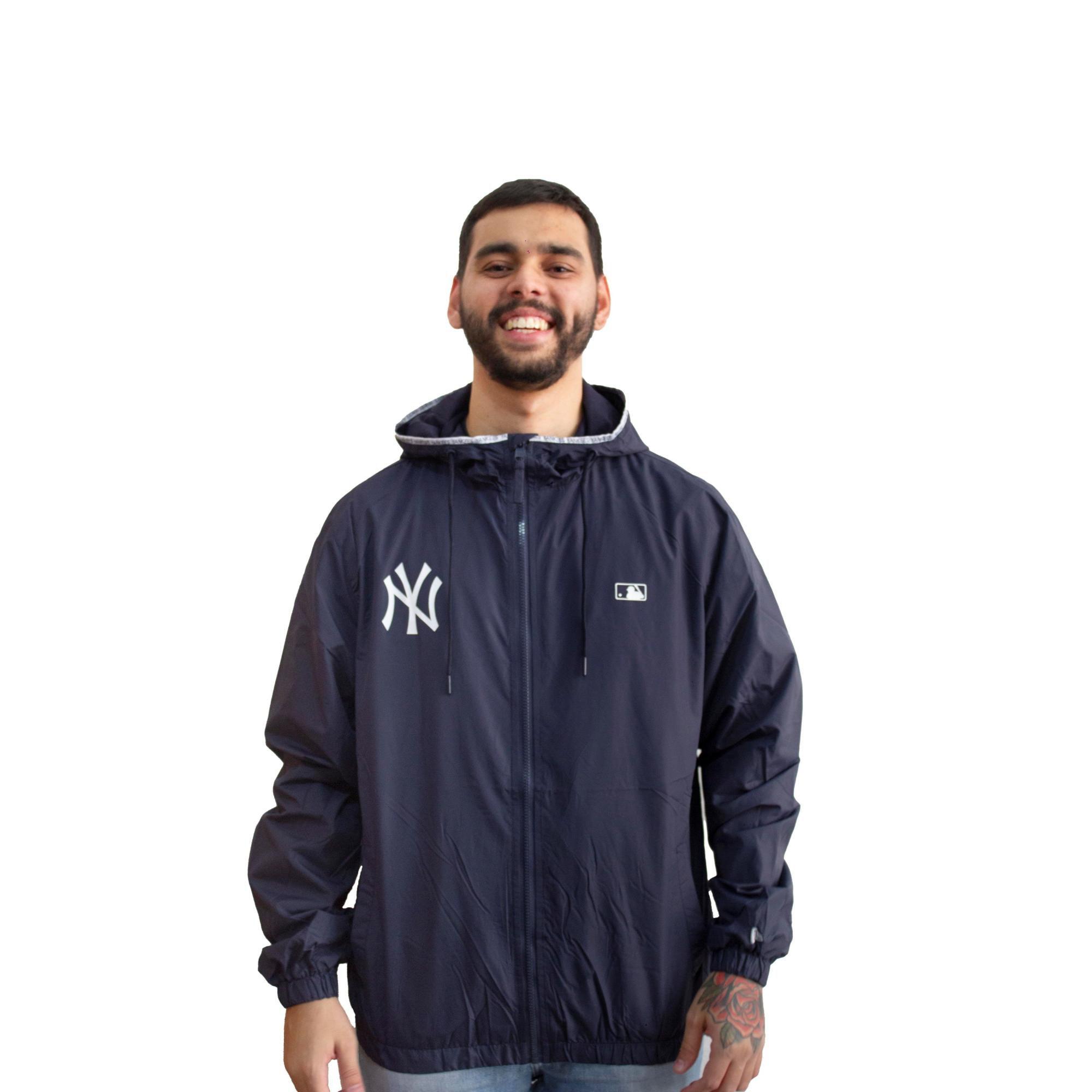 Jaqueta Corta Vento New Era NY Yankees Marinho