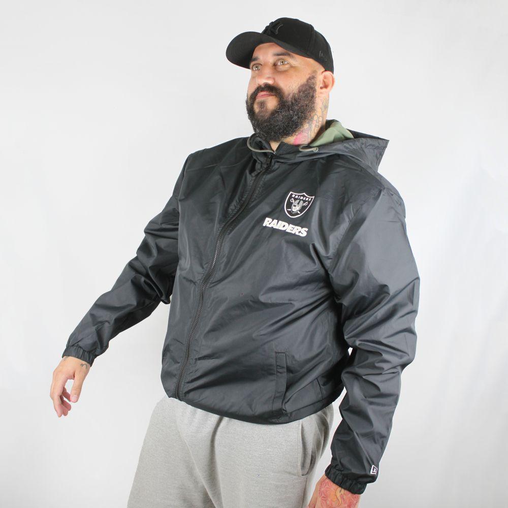 Jaqueta Corta Vento New Era Plus Size Raiders