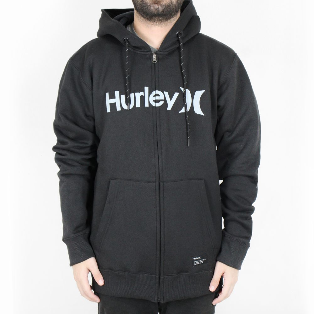 Moletom Hurley Aberto O&O Solid Preto