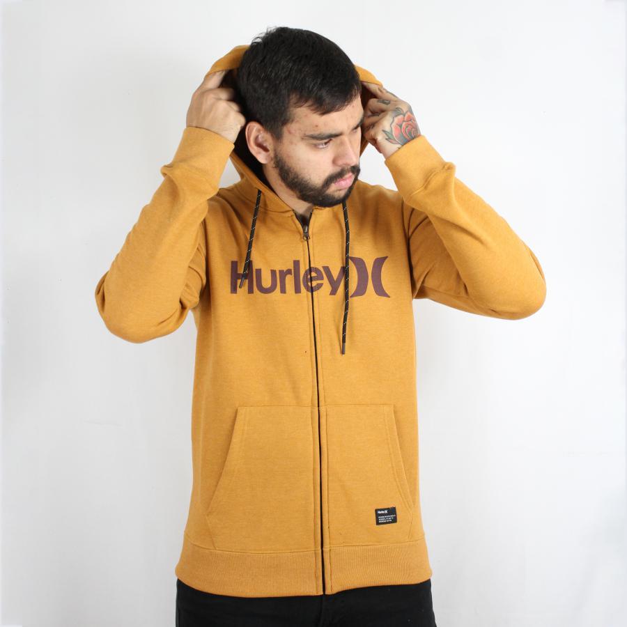 Moletom Hurley Canguru Aberto Classic Caramelo