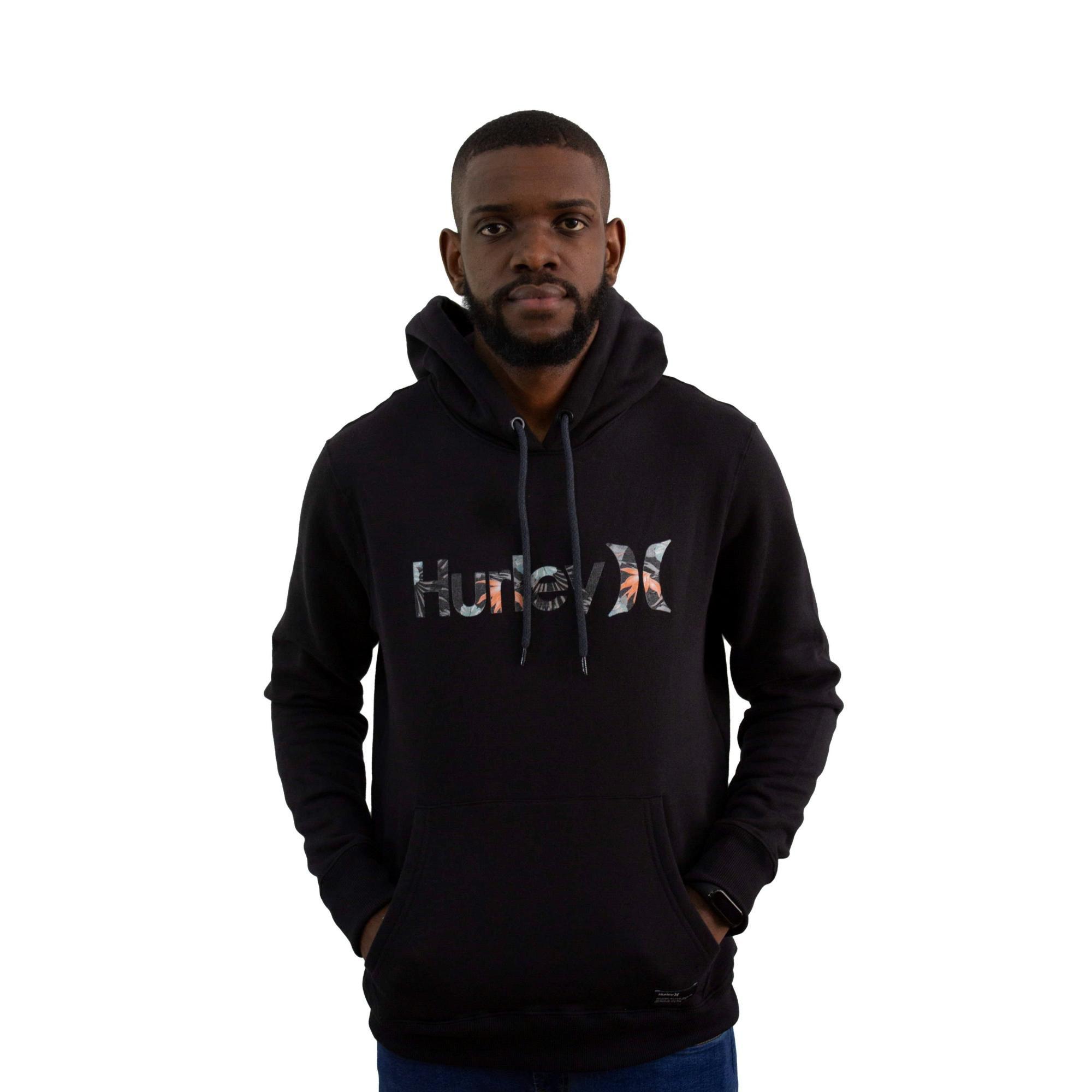 Moletom Hurley Canguru Logo Preto