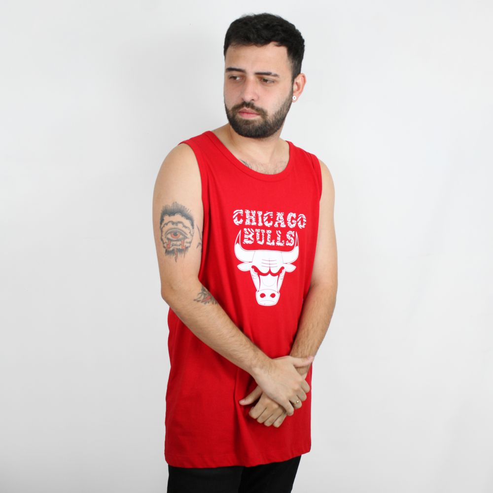Regata New Era Chicago Bulls Vermelha