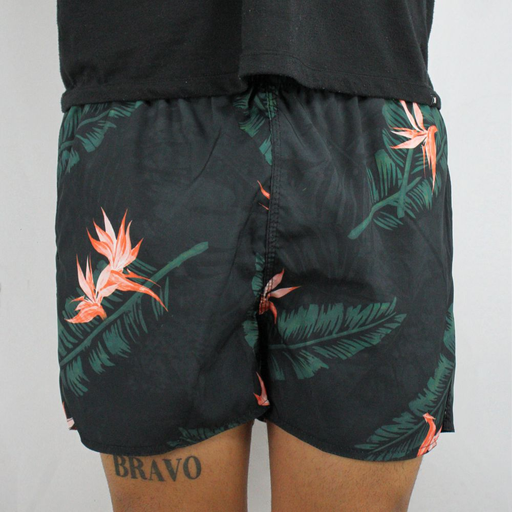 Short Calvin Klein Jeans Preto Floral