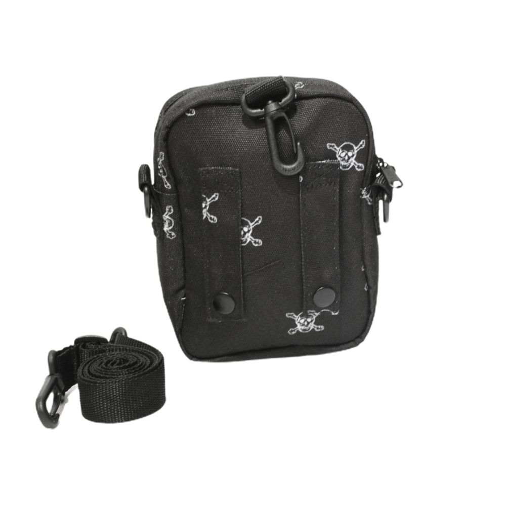 Shoulder Bag Vans Skulls Preta