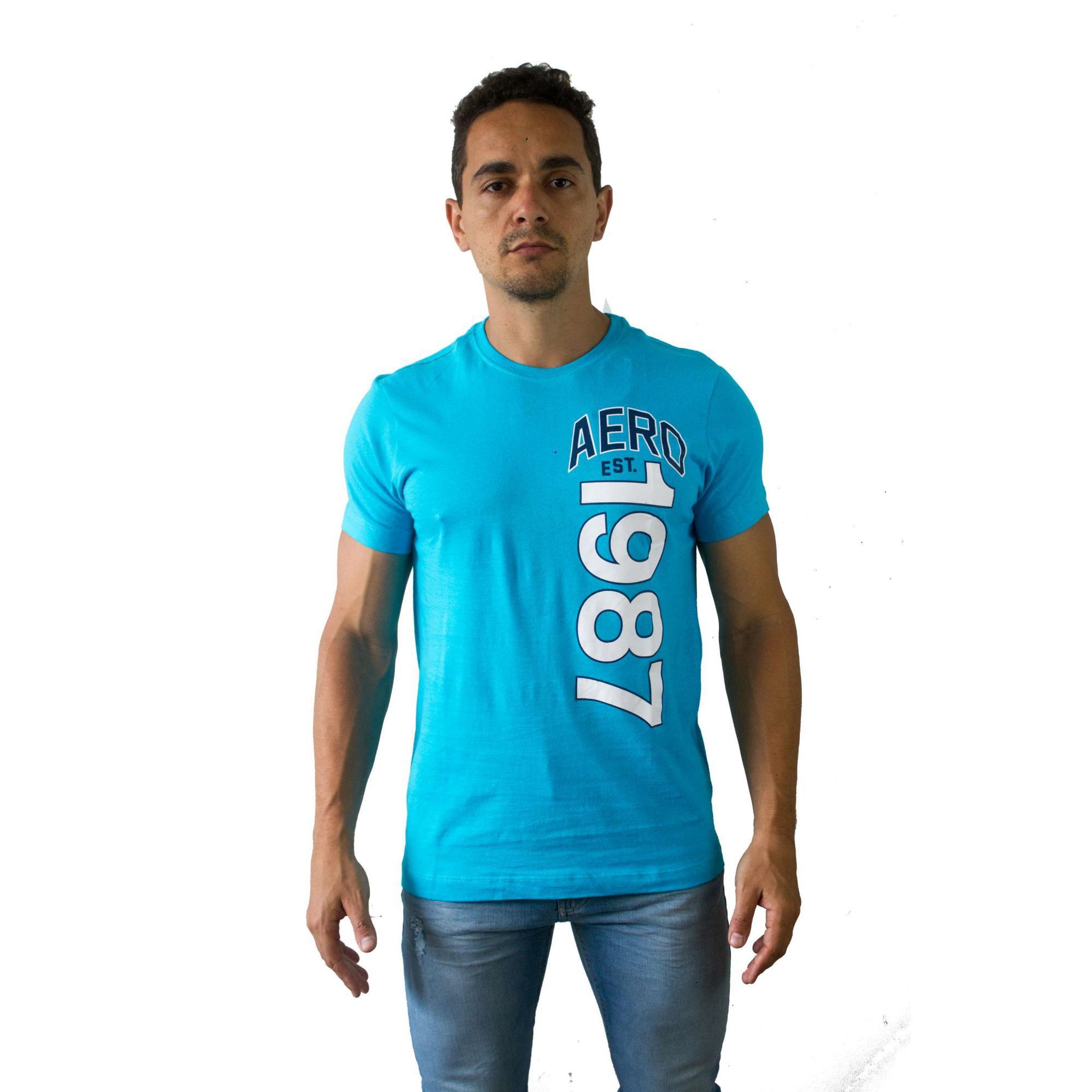 T-shirt Aéropostale Aero 1987 Azul