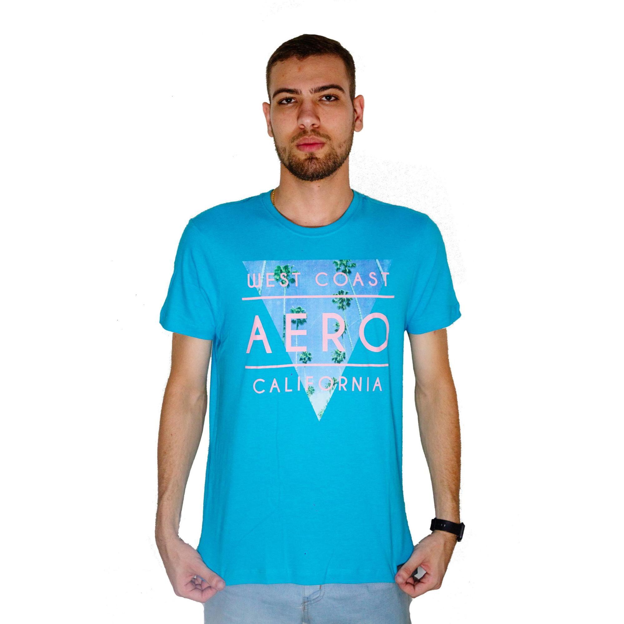 T-shirt Aéropostale Azul Mescla