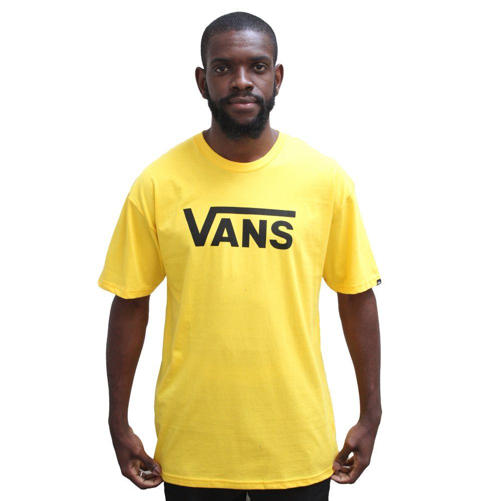 T-shirt Vans Logo Amarela