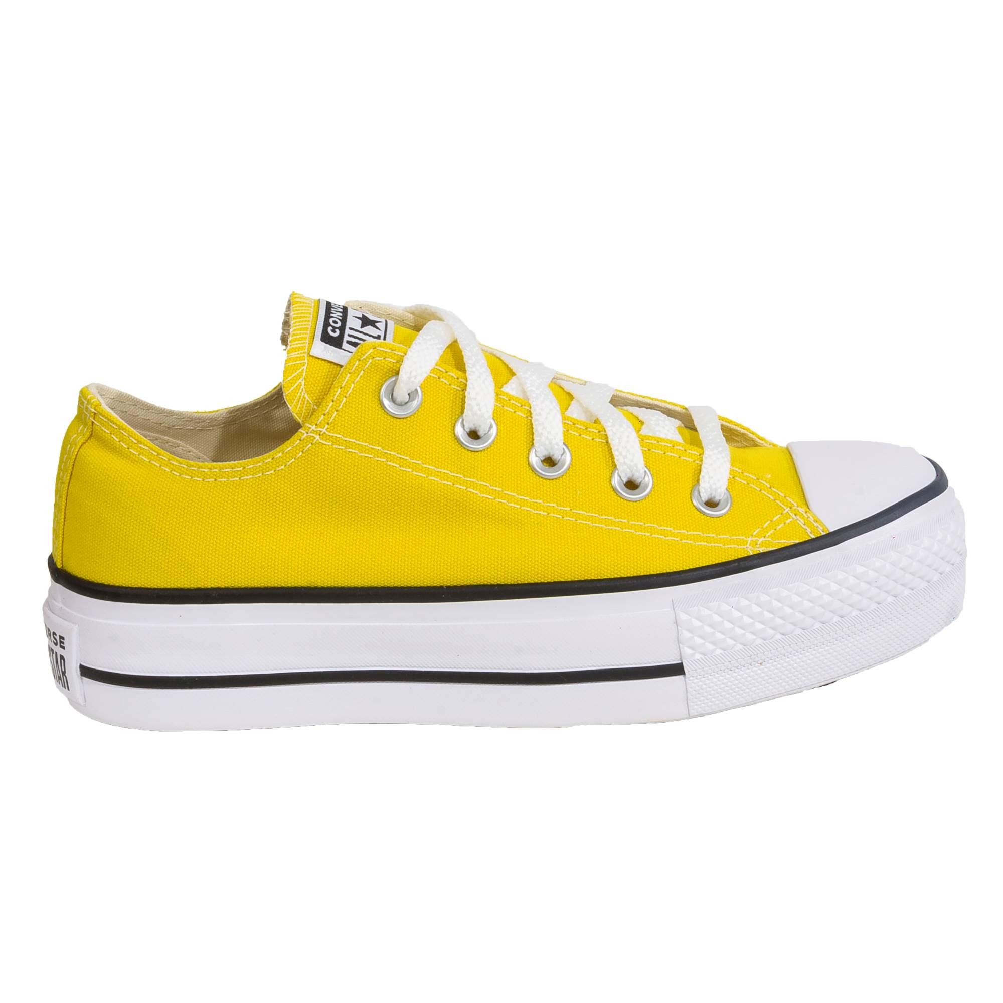 Tênis Converse All Star Chuck Taylor Plataforma Amarelo