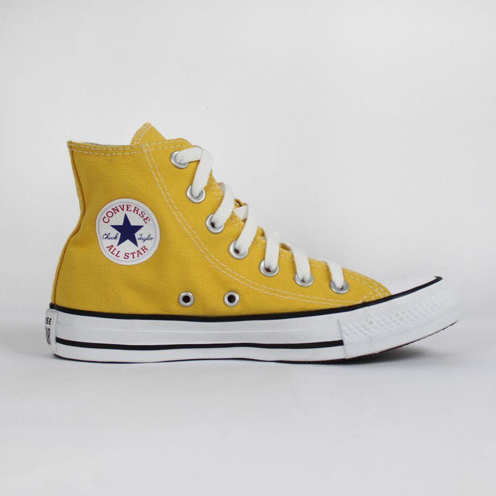 Tênis Converse All Star Chuck Taylor Amarelo Cano Longo