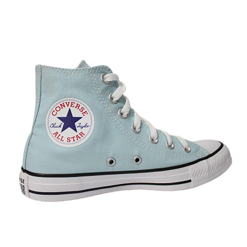 Tênis Converse All Star Chuck Taylor Azul Pálido Cano Longo
